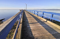 Pier for fishing crabs Royalty Free Stock Photos