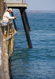 Pier fishing at Imperial Beach California Stock Images