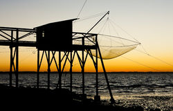 Pier with fishing net Royalty Free Stock Photography