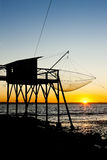 Pier with fishing net Royalty Free Stock Photos