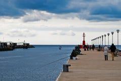 Pier of Fiumicino Royalty Free Stock Photo