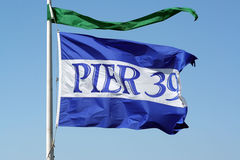 Pier 39 Flag Stock Photo