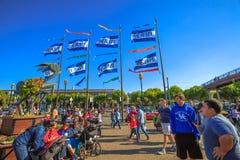 Pier 39 Flags Stock Photo
