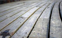 Pier Floor Boards Fotografie Stock Libere da Diritti