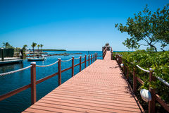 Pier in the Florida Keys. View of pier in the Florida Keys, a very popular tourist destination royalty free stock photography
