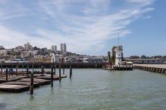 Pier 39  Forbes island in San Francisco Stock Photos