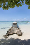 Pier in Franse Polynesia stock afbeeldingen