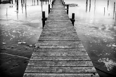 Pier in Fredrikstsd in Norway Stock Photo