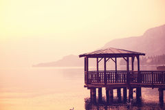 Pier on Garda lake Royalty Free Stock Photography