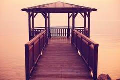 Pier on Garda lake Royalty Free Stock Image