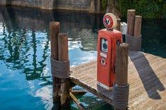 Pier Gas Pump Royalty-vrije Stock Fotografie