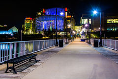 Pier and the Gaylord National Resort at night,  in National Harb Stock Photo