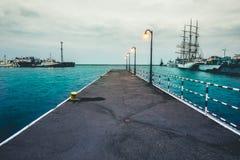 Pier in Gdynia Stock Photo