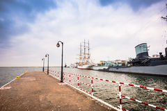 Pier in Gdynia Stock Photography