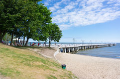Pier in Gdynia Royalty Free Stock Photo