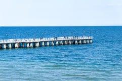 Pier in Gdynia Orłowo,Poland Stock Photos