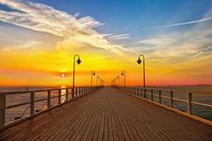 Pier in Gdynia - Orlowo Stockfotos