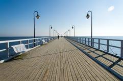Pier in Gdynia Orlowo, Poland Royalty Free Stock Photos