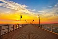 Pier in Gdynia - Orlowo Stock Photos
