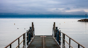 Pier on Geneva lake Royalty Free Stock Photos