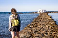 Pier, Georgioupolis, Kreta Stockfotografie