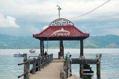 Pier on Gili Air island Stock Photography