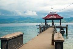 Pier on Gili Air island Stock Photos