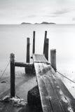 Pier go into sea Stock Photo