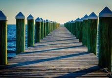 Pier am Golf Lizenzfreies Stockbild