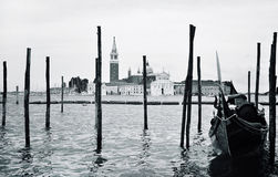Pier with a gondola Royalty Free Stock Photos