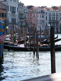 Pier with gondola Royalty Free Stock Images