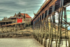 Pier Gone Stockbild