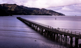 Pier at Governors Bay. Taken at the Port Hills, Canterbury Stock Image