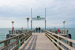 Pier in Graal-Mueritz Royalty Free Stock Photography