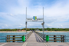 Pier in Graal-Mueritz Royalty Free Stock Images