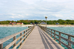 Pier in Graal-Mueritz Stock Photos