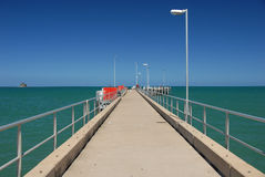 Pier at Great Barrier Reef Stock Image