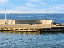 Pier in the Gulf of Finland Stock Images