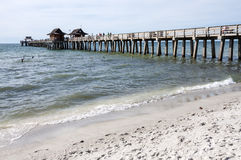 Pier at the Gulf of Mexico coast Stock Photo