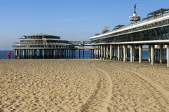 The Pier of The Hague is closed for public Stock Images