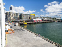 Pier in the harbour of Auckland in New Zealand Stock Photography