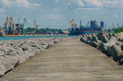 Pier and harbour in Klaipeda Royalty Free Stock Images