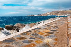 Harbour on Mykonos, Greece Royalty Free Stock Photos