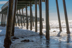 Pier at Haskell's Beach Royalty Free Stock Photos
