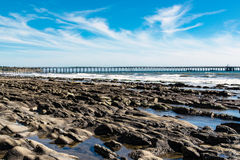 Pier At Haskell's Beach. In Goleta California Royalty Free Stock Photos