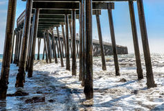 Pier At Haskell's Beach Royalty Free Stock Photography