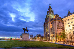 Pier Head Liverpool England Fotos de archivo
