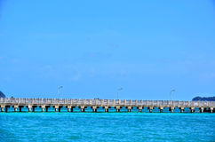 Pier in Heavenly Blue Place Stock Photography