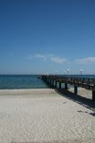 Pier of Heiligendamm/Baltic Sea. In glorious summer weather Royalty Free Stock Photography