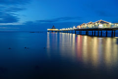 The pier of Heringsdorf at dawn Royalty Free Stock Photography
